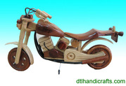 Wooden cyclos,  bikes and motorbikes