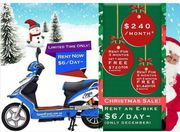 Rent an E-bike from only $6 a day (ONLY DECEMBER)